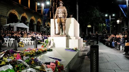 Muslim community donation to ANZAC dawn service