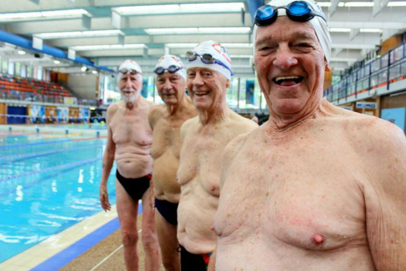 Team of 90 Year Old Swimmers