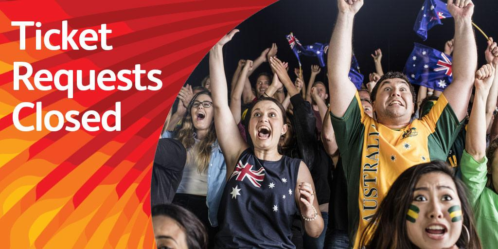 Comm Games Ticket Requests Close