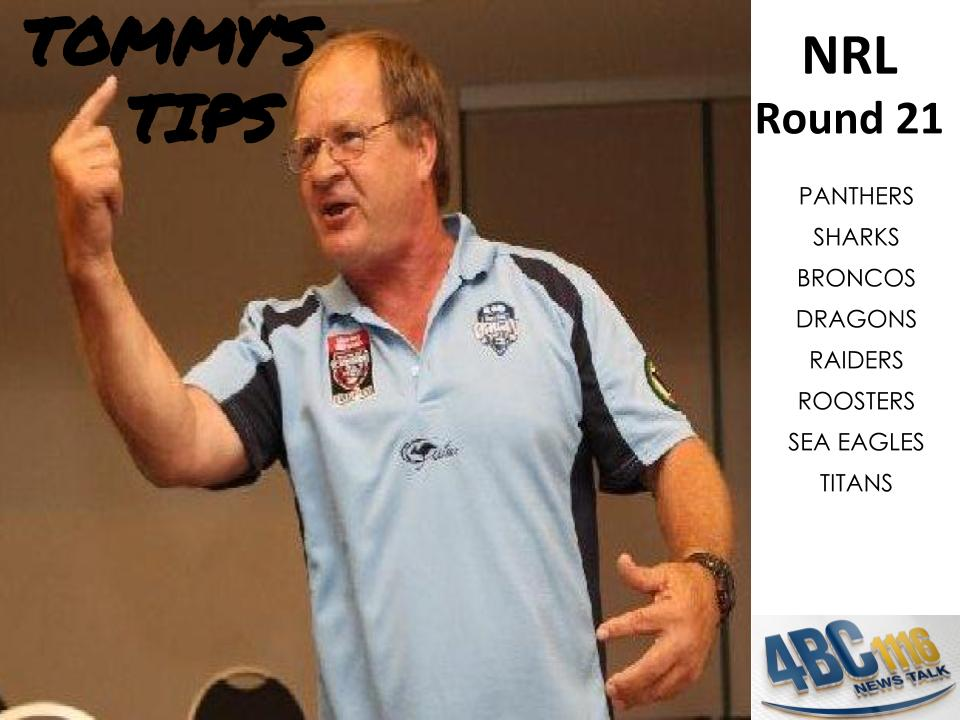 Tommy's Tips – Round 21