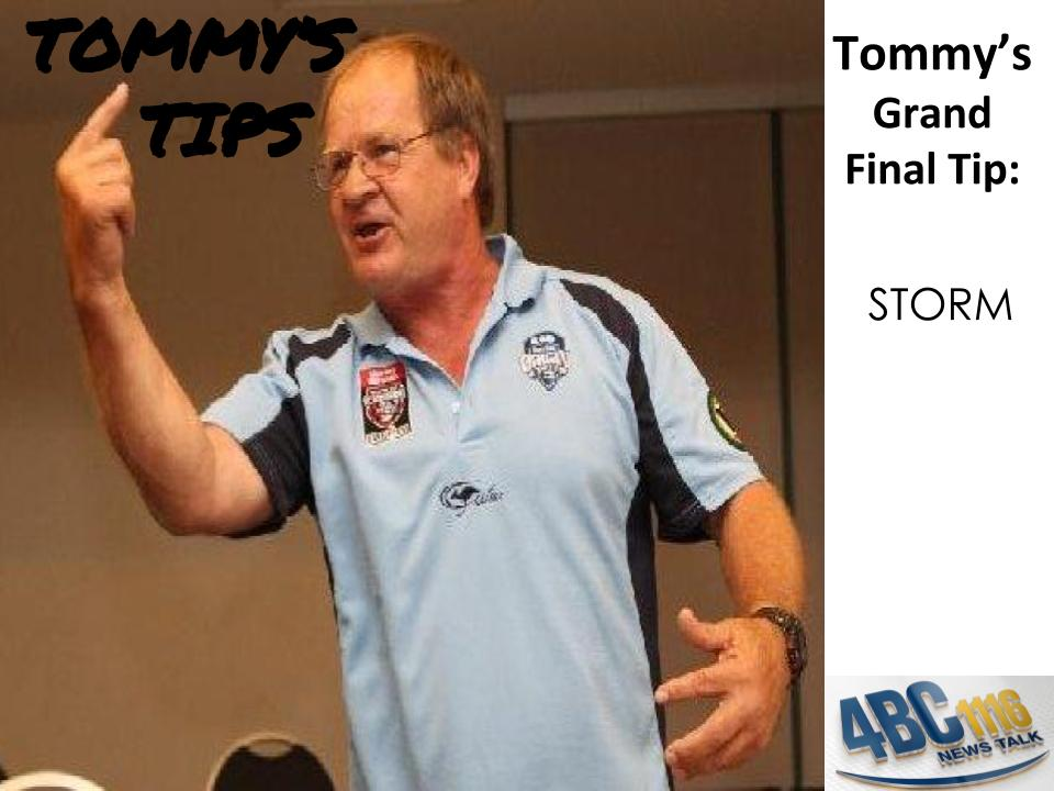 Tommy's Grand Final Tips