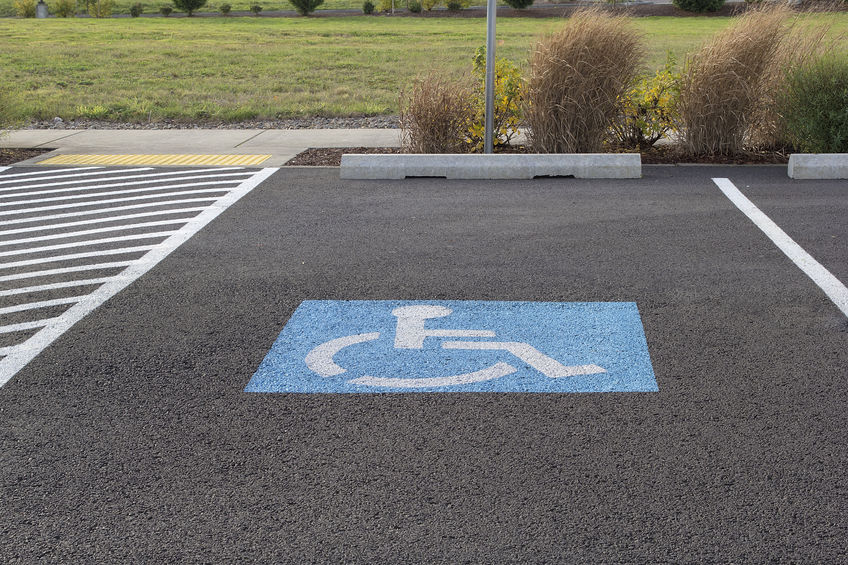 23848265 - handicapped parking space at business location