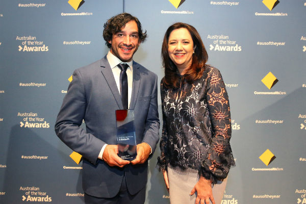JT Named QLD Australian of the Year