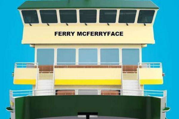 Maritime staff furious over 'Ferry McFerryface'
