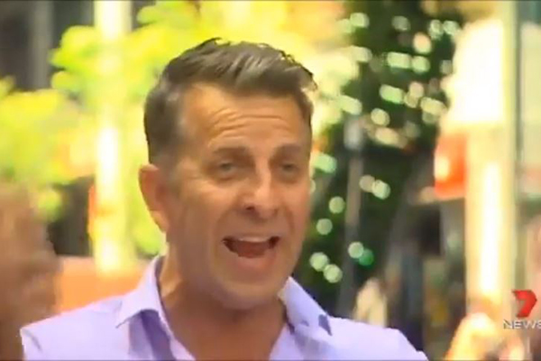 WATCH: Andrew Constance rude to George St business owners