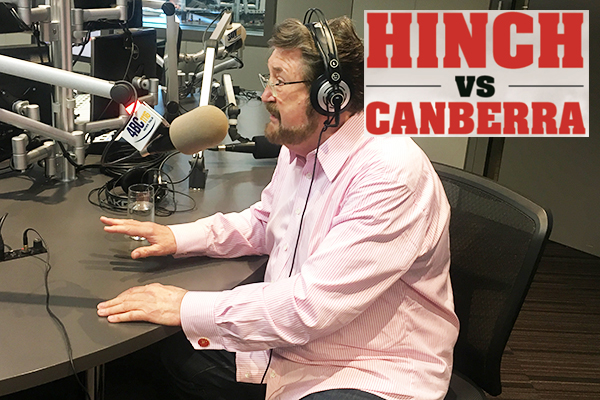 LANGUAGE WARNING: Derryn Hinch tees off on Canberra