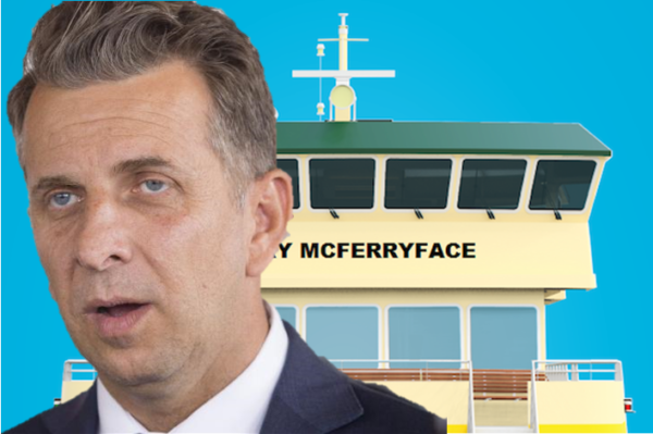 Article image for Transport Minister not backing down from Ferry McFerryface