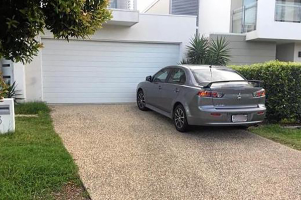 Fined for parking in your own driveway