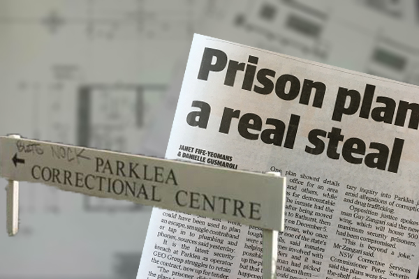Article image for Maximum security prison plans stolen by inmate