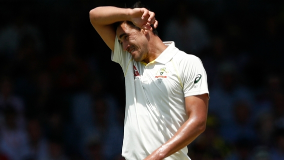 Article image for Starc set to bowl despite bruised heel