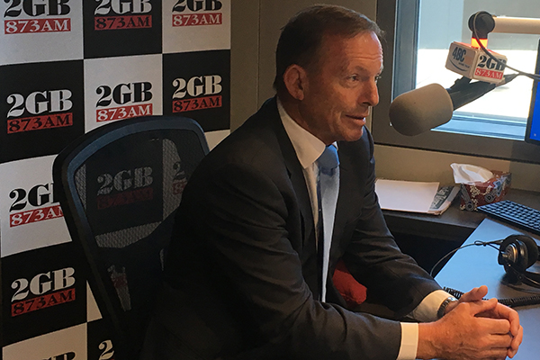 Article image for Tony Abbott condemns Senator Fraser Anning's 'lunatic' comments