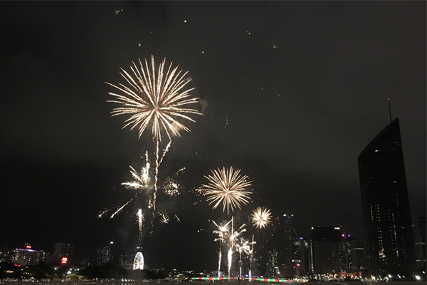 Article image for New Year's Eve: Thunderstorms held back to reveal stunning fireworks display