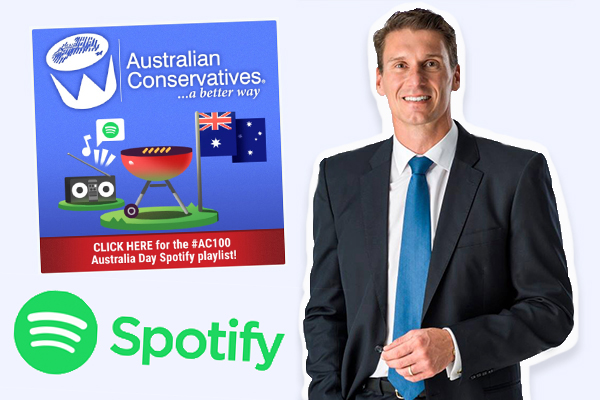 Spotify threatens to remove Cory Bernardi's Australia Day playlist