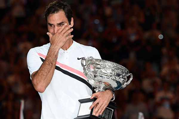 Roger Federer wins the Australian Open