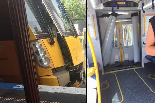 Article image for Passenger train derails in Sydney