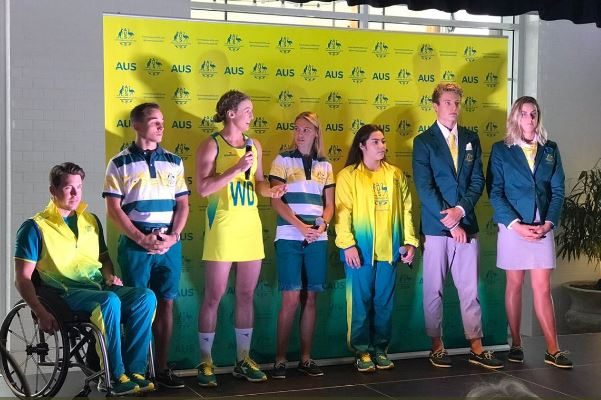 Here are the new uniforms for this year's Commonwealth Games