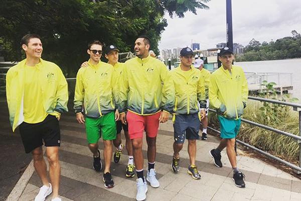 Australian Davis Cup team ready to rock Brisbane