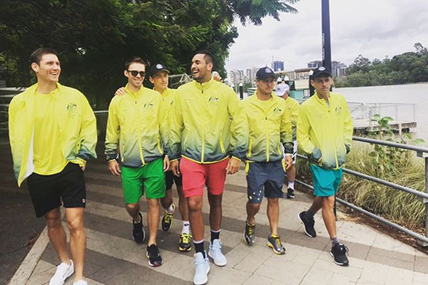 Article image for Australian Davis Cup team ready to rock Brisbane
