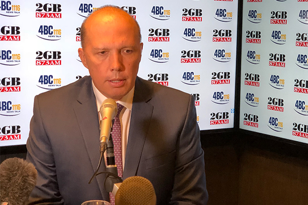 Peter Dutton chokes back tears during interview