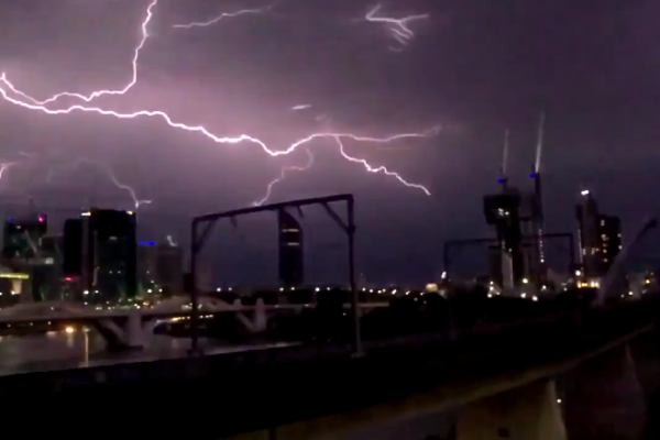 Article image for Wild storms hit Brisbane; thousands left without power