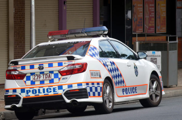 Police cars allegedly rammed by aggressive driver on Gold Coast