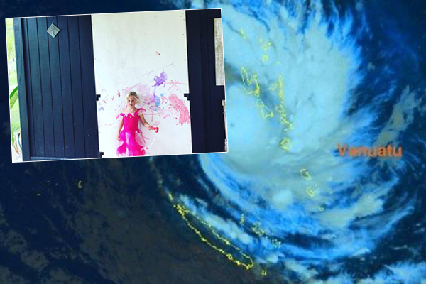 Weatherman's daughter prepares for Cyclone Hola in adorable fashion