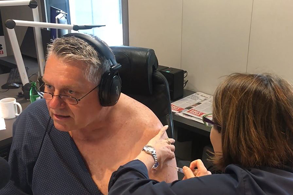 Article image for WATCH | Ray gets his flu shot live on air