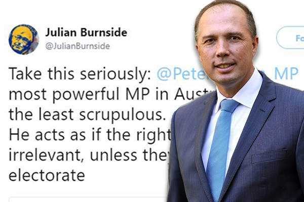 Asylum seeker advocate posts photo of Peter Dutton as a nazi