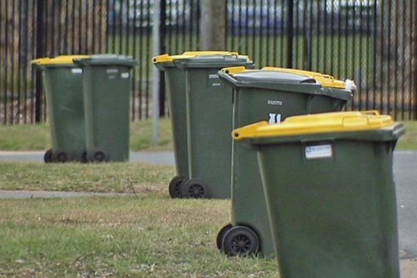 Dumping yellow bins