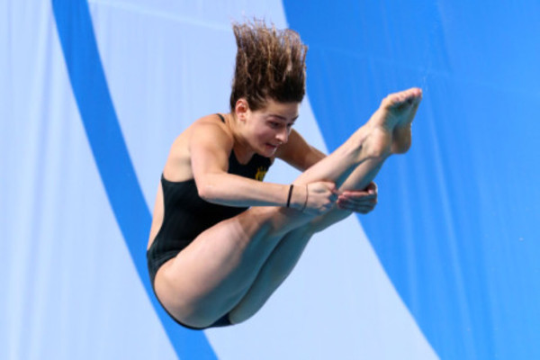 The toughest thing about competing at Comm Games Optus Aquatic Centre
