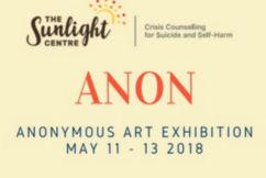 Sunlight Centre: 'ANON' Anonymous Art Exhibition