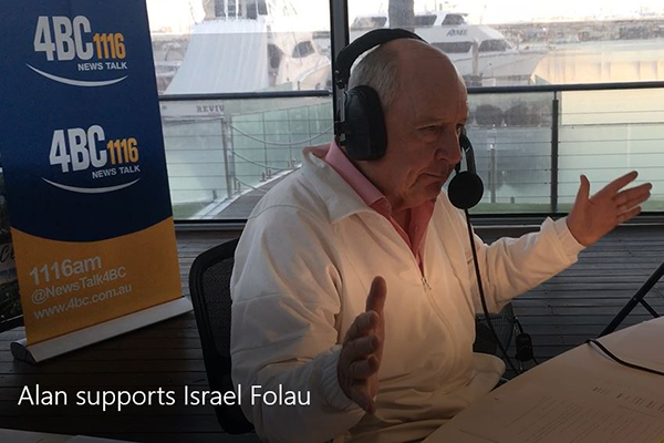 Alan makes Israel Folau an offer that will terrify Rugby Australia