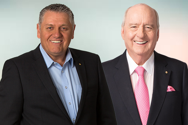 Ray gives Alan Jones a special thank you, 'without this fella, I wouldn't be here'