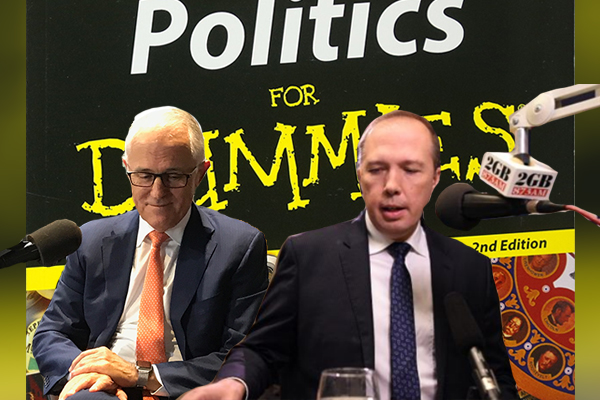 BUSTED | Dutton and Turnbull reading from the same cheat sheet
