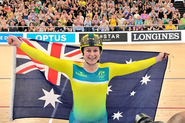 Triple gold medallist shines as Australia dominates the velodrome