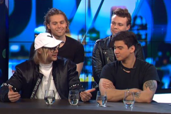 Article image for 5SOS relive Ray Hadley prank on The Project: 'He's a legend'