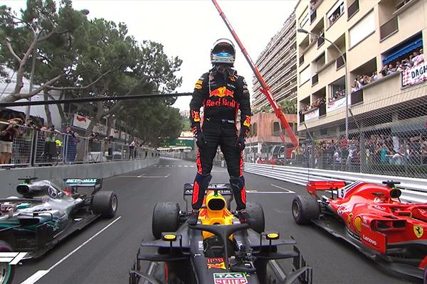 Article image for Aussie Daniel Ricciardo wins the Monaco F1 Grand Prix