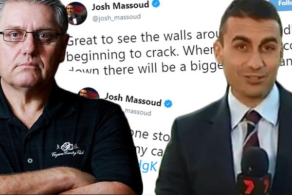 'Karma's a bitch', Ray Hadley unleashes on 'grub' Josh Massoud