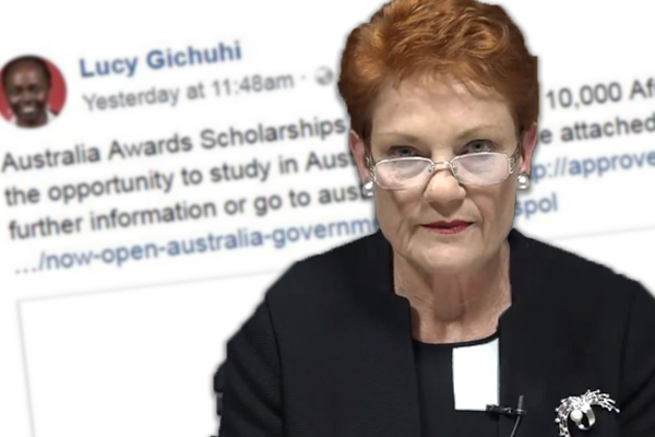 Article image for Senator Pauline Hanson wants a 'please explain' over foreign student scholarships