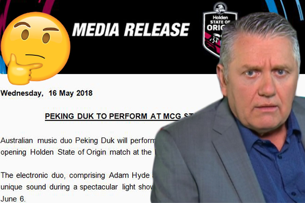 NRL hires delicious Chinese dish as State of Origin entertainment??