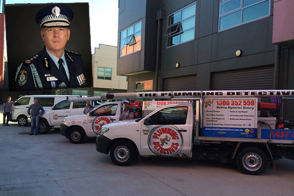 Police Commissioner issues cease and desist to dodgy plumbing company