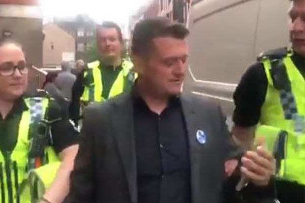 Thousands hit the streets to protest arrest of controversial activist Tommy Robinson