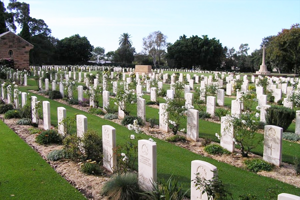 War graves damaged by vandals