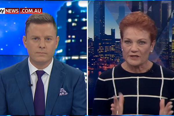 Pauline Hanson breaks down in tears during Ben Fordham TV interview