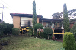 Unlicensed driver allegedly tries to flee after smashing into family home