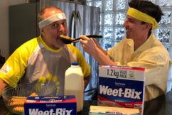 'How many do you do?': Dr Rob Zammit takes Weet-Bix slogan to the next level