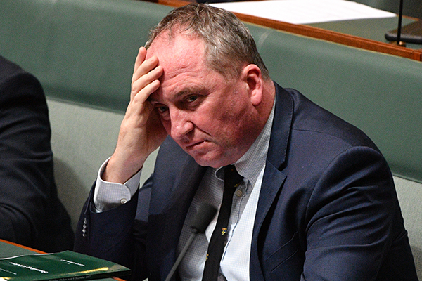Article image for Barnaby Joyce accuses Prime Minister of using affair for 'political advancement'