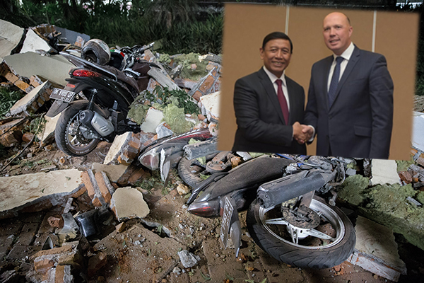 Peter Dutton 'lucky to get out' of deadly Indonesian earthquake