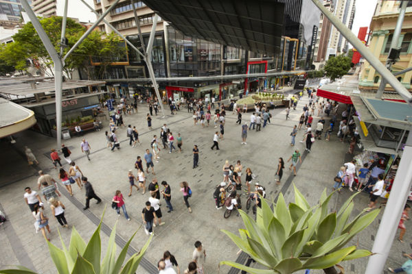 Pedestrian transformation for Brisbane CBD