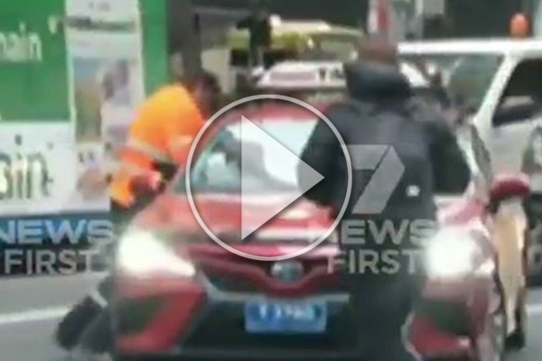 WATCH | Violent road rage incident stops traffic